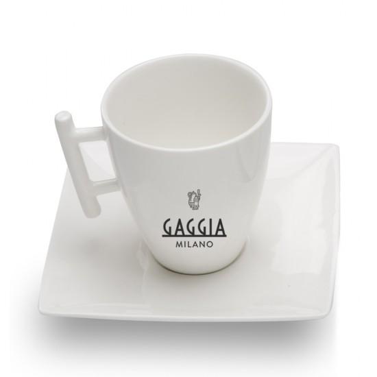 Conjunto de 2 Xícaras para Cappuccino com Pires - Gaggia